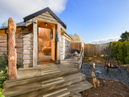 Magical holiday cabins with firepit and hot tub | Sweet Donside Cabins