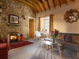 Dog-friendly holiday cottage with open fire and hot tub in Scotland | Sweet Donside Cabins and Sweetheart Cottage