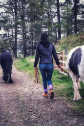 Take a Picnic Pony Walk during your holiday at Sweet Donside Cabins