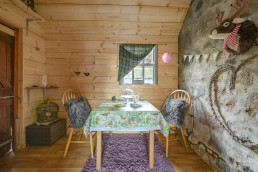 Relax and unwind in the snug during your holiday in Scotland | Sweet Donside Cabins and Sweetheart Cottage